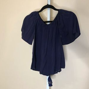 Lilly Pulitzer Navy short sleeve top (XXS)